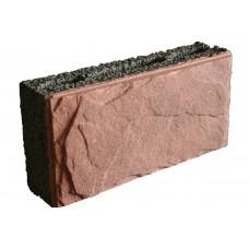 Облицовочный керамзитобетонный блок Еврокам размером 300х200х400 мм
