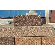 Облицовочный арболитовый блок размером 600х400х250 мм