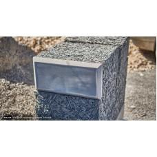 Облицовочный арболитовый блок размером 250х300х500 мм