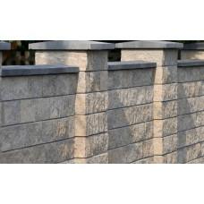 Облицовочный полнотелый прямой шлакоблок размером 390х190х190 мм