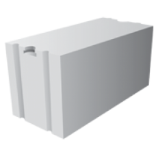 Перегородочный газоблок Uniblock D600 размером 200х200х600 мм