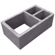 Вентиляционный керамзитобетонный блок Термокомфорт размером 390х190х188 мм
