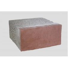 Облицовочный керамзитобетонный блок Термокомфорт размером 400х400х200 мм