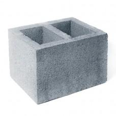 Вентиляционный керамзитобетонный блок Алексин размером 200х200х400 мм