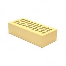 Керамический одинарный пустотелый желтый кирпич Керамин