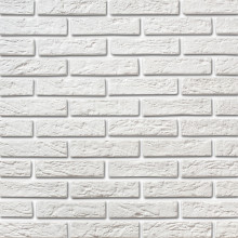 Белый декоративный кирпич Камрок